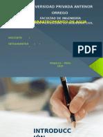 Modelo de diapositivas para abastecimiento de agua