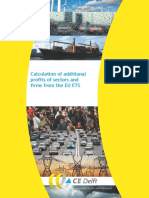 CE Delft - Calculation of Additional Profits of Sectors and Firms From the EU ETS