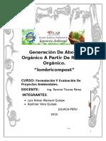 Generación de Abono Orgánico a Partir de Restos Orgánico Del Mercado Las Mercedes de La Ciudad de Juliaca Por Método de Lombricompos