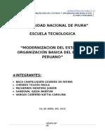 Modernizacion Del Estado y Organización Basica Del Estado Peruano