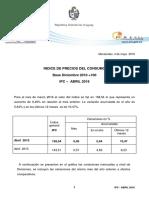 IPC Abril Informe INE