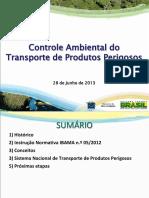 Controle Ambiental Do Transporte de Produto Perigosos - 2013 - Ibama
