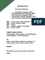 SQL & Pl-SQL Materials