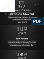 data driven decision making project