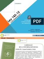 Presentacion Pedagogica Ley Organica CES 142-15