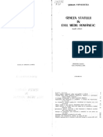 Serban Papacostea Geneza Statului in Evul Mediu Romanesc(1)