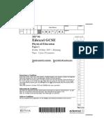 Edexcel Past Paper 2007