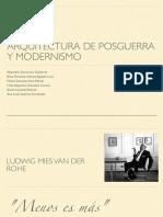 La Arquitectura de Posguerra y el Modernismo como Antecedente (1945-60)