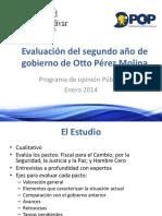 Evaluación Del 2ndo Año de Gobierno Otto Pérez Molina