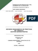 Informe de Prácticas de Gestión Administrativa
