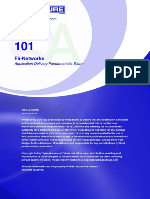 F5-Networks: Application Delivery Fundamentals Exam