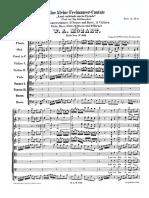 """Mozart - """"Laut verkünde unsre Freude"""" K. 623"""