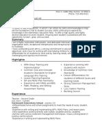 keri hart resume - 2016