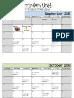 curriculumunit calendar