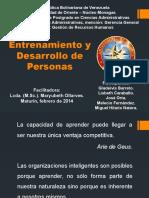 Entrenamiento y Desarrollo de Personas - Febrero2015