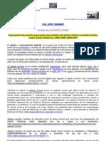 Salario Mínimo – mundial - series historicas 2007 a 2010