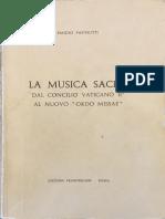 Papinutti, La Musica Sacra Dal CVII Al Nuovo Ordo Missae