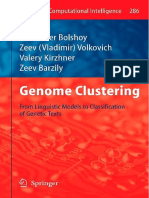 (Studies in Computational Intelligence 286) Alexander Bolshoy, Zeev (Vladimir) Volkovich, Valery Kirzhner, Zeev Barzily (Auth.)-Genome Clustering_ From Linguistic Models to Classification of Genetic T