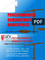 Diapositivas de Derecho Procesal Administrativo COMPLETO