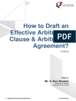 Drafting Arbitration Clause and Agreement