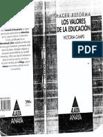 Camps, Victoria - Los valores de la educación.pdf