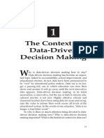 dddm contex of data driven decision makingt