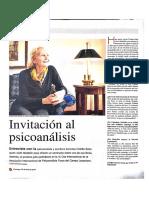 El Colombiano, Entrevista Con Colette Soler