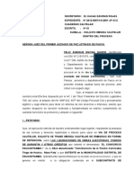 Cautelar de Concorcio Paucartambo