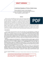 HLA-based adaptive distributed simulation of wireless mobile systems