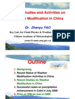 Chinese Experiments in Weather Modification