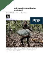 Marcas de Chocolate Que Esclavizan Niños Ojo Tambien Hay Otras Para No Comprar Estas