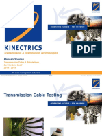 Kinectrics Presentation - HV Cable Testing