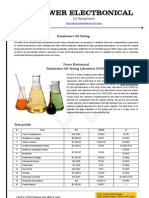 Transformer Oil testing lab - NABL accredited (http://www.powerelectronical.com)
