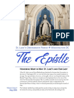 Epistle May 2016