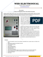 Automatic Tan-Delta and Capacitance tester - Power Electronical