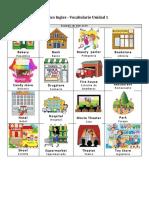 4B Ingles - Vocabulario Libro Unidad 1