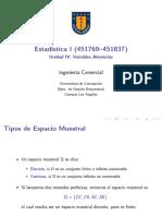 Archivo Unidad IV Variables Aleatorias