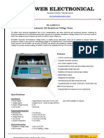 Oil Tester - Oil Breakdown Voltage (BDV) tester - Power Electronical