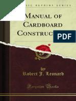 Manual of Cardboard Construction 1000816662