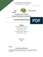 informe de funciones administrativas
