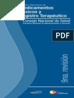 2014 Cuadro Nacional de Medicamentos Básicos y Registro Terapéutico