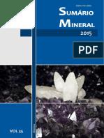 Sumário Mineral Dados DNPM 2015