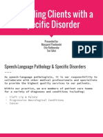 counseling clients with specific disorder artifact