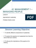 BUSM 1162 ManagingPeople Lecture 6 Leadership Sem 1 2016