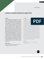A Sudene e a Mudança Institucional No Regime Militar