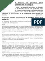 Programas Que Impulsa El Gobierno Para Contrarrestar La Pobreza en Nicaragua