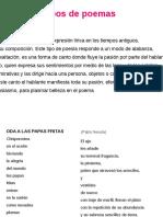 Tipos de Poemas [Reparado]