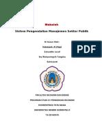 Makalah Sistem Pengendalian Manajemen Sektor Publik