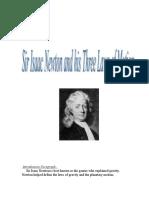 Sir Isaac Newton and Three Laws of Motion