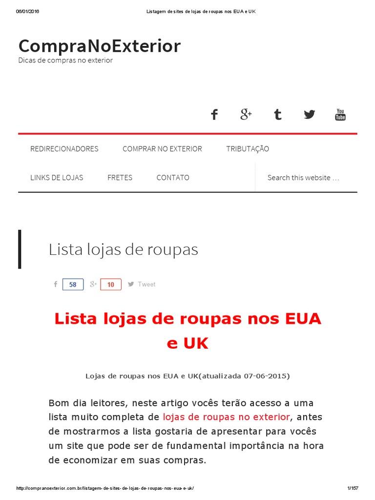 Listagem de sites de lojas de roupas nos EUA e UK.pdf cc1921b4e79f5